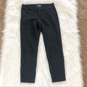 Old Navy pixie midrise black white pants, size 4